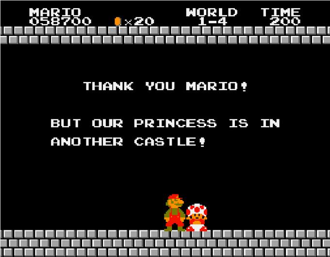 Mario 1 ending