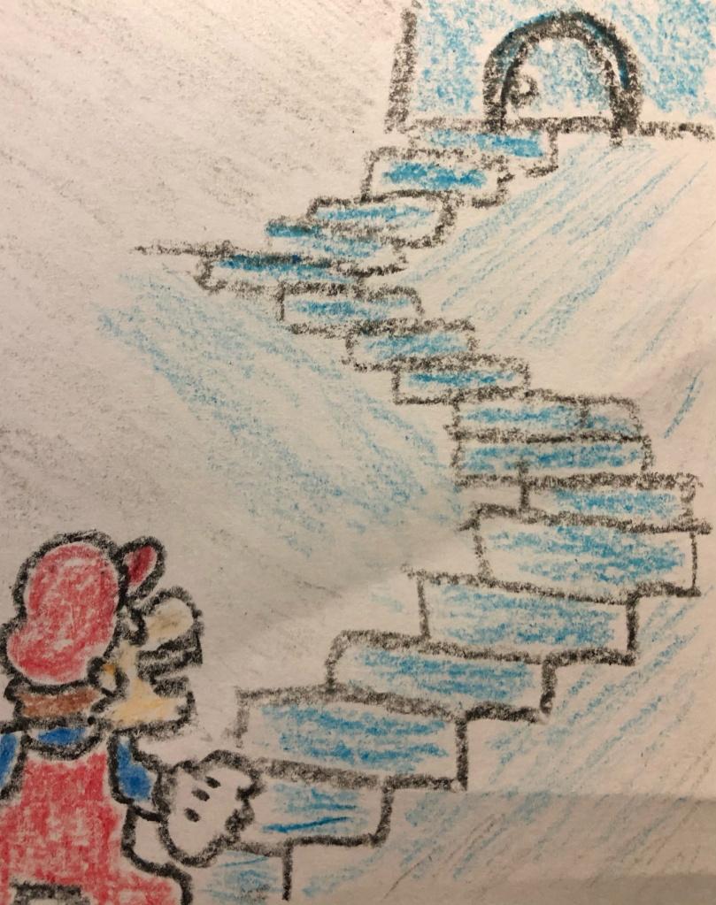 super mario bros 2 staircase mario